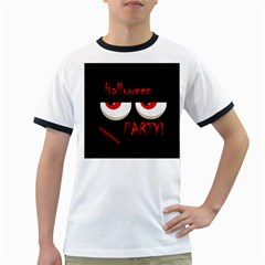 Halloween party - red eyes monster Ringer T-Shirts