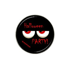 Halloween party - red eyes monster Hat Clip Ball Marker