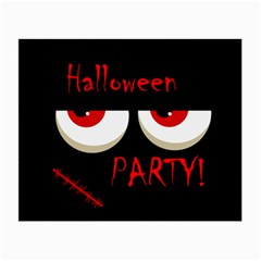 Halloween party - red eyes monster Small Glasses Cloth