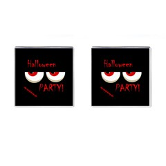 Halloween party - red eyes monster Cufflinks (Square)