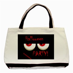 Halloween party - red eyes monster Basic Tote Bag