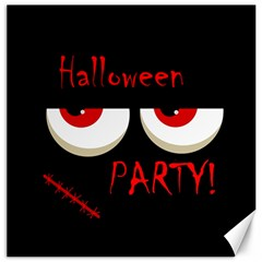 Halloween party - red eyes monster Canvas 12  x 12