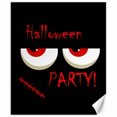 Halloween party - red eyes monster Canvas 20  x 24