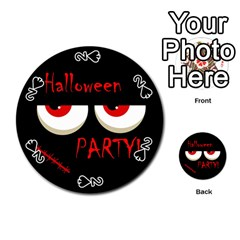 Halloween party - red eyes monster Playing Cards 54 (Round)