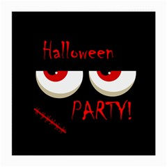 Halloween party - red eyes monster Medium Glasses Cloth