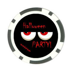 Halloween party - red eyes monster Poker Chip Card Guards