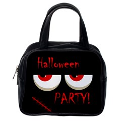 Halloween party - red eyes monster Classic Handbags (One Side)
