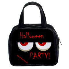 Halloween party - red eyes monster Classic Handbags (2 Sides)