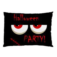 Halloween party - red eyes monster Pillow Case