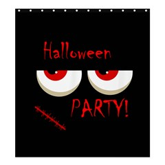 Halloween party - red eyes monster Shower Curtain 66  x 72  (Large)