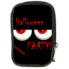 Halloween party - red eyes monster Compact Camera Cases