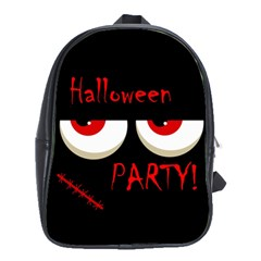 Halloween party - red eyes monster School Bags(Large)