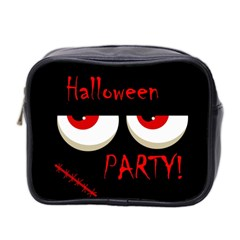 Halloween party - red eyes monster Mini Toiletries Bag 2-Side