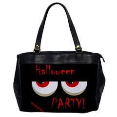 Halloween party - red eyes monster Office Handbags
