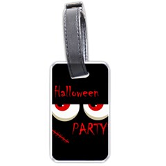 Halloween party - red eyes monster Luggage Tags (Two Sides)