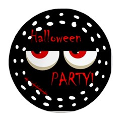 Halloween party - red eyes monster Round Filigree Ornament (2Side)