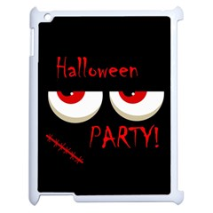 Halloween party - red eyes monster Apple iPad 2 Case (White)