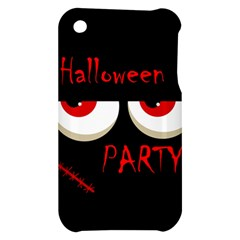 Halloween party - red eyes monster Apple iPhone 3G/3GS Hardshell Case