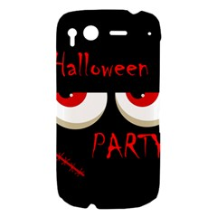 Halloween party - red eyes monster HTC Desire S Hardshell Case