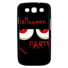 Halloween party - red eyes monster Samsung Galaxy S III Case (Black)