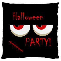 Halloween party - red eyes monster Large Cushion Case (One Side)