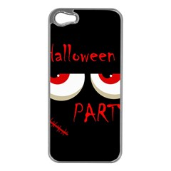Halloween party - red eyes monster Apple iPhone 5 Case (Silver)