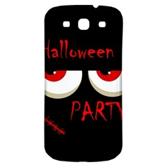 Halloween party - red eyes monster Samsung Galaxy S3 S III Classic Hardshell Back Case