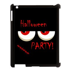 Halloween party - red eyes monster Apple iPad 3/4 Case (Black)