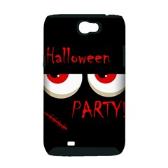 Halloween party - red eyes monster Samsung Galaxy Note 2 Hardshell Case (PC+Silicone)