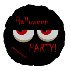 Halloween party - red eyes monster Large 18  Premium Round Cushions