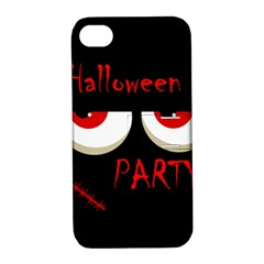 Halloween party - red eyes monster Apple iPhone 4/4S Hardshell Case with Stand