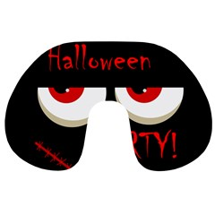 Halloween party - red eyes monster Travel Neck Pillows