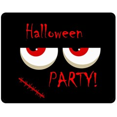 Halloween party - red eyes monster Double Sided Fleece Blanket (Medium)
