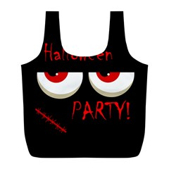 Halloween party - red eyes monster Full Print Recycle Bags (L)
