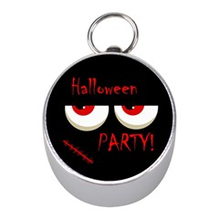Halloween party - red eyes monster Mini Silver Compasses