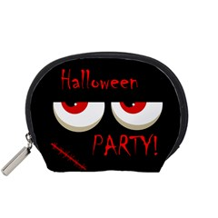 Halloween party - red eyes monster Accessory Pouches (Small)