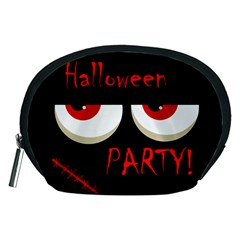 Halloween party - red eyes monster Accessory Pouches (Medium)
