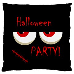 Halloween party - red eyes monster Standard Flano Cushion Case (Two Sides)