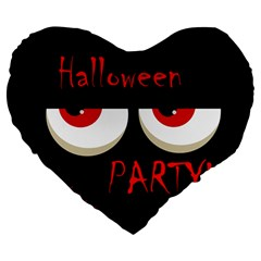 Halloween party - red eyes monster Large 19  Premium Flano Heart Shape Cushions