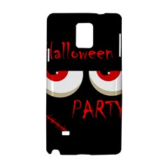 Halloween party - red eyes monster Samsung Galaxy Note 4 Hardshell Case