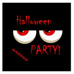 Halloween party - red eyes monster Large Satin Scarf (Square)