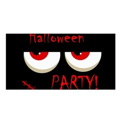 Halloween party - red eyes monster Satin Shawl