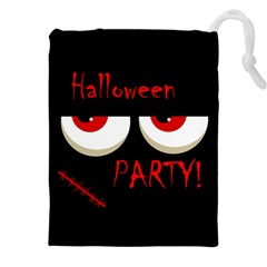 Halloween party - red eyes monster Drawstring Pouches (XXL)