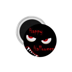 Happy Halloween - red eyes monster 1.75  Magnets