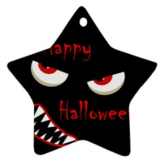 Happy Halloween - red eyes monster Ornament (Star)