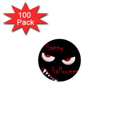 Happy Halloween - red eyes monster 1  Mini Magnets (100 pack)