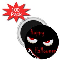 Happy Halloween - red eyes monster 1.75  Magnets (100 pack)