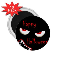 Happy Halloween - red eyes monster 2.25  Magnets (10 pack)