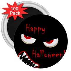 Happy Halloween - red eyes monster 3  Magnets (100 pack)