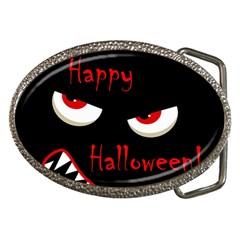 Happy Halloween - red eyes monster Belt Buckles